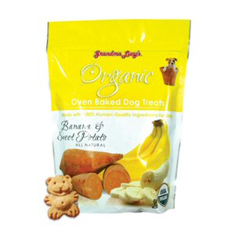 Grandma Lucys Organic Banana and Sweet Potato Dog Treats