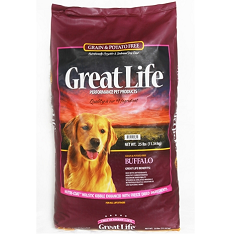 Great Life Grain Free Buffalo Dog Food