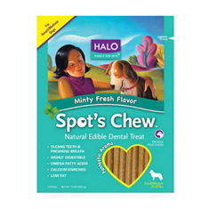 Halo Spots Chew Mint Flavor Dental Treat