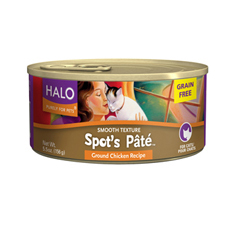 Halo Spots Pate Grain Free Chicken Cat Cans