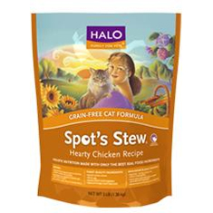 Halo Spots Stew for Cats Grain Free Chicken Dry Food
