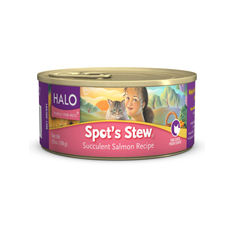 Halo Spots Stew for Cats Succulent Salmon Cans