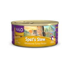 Halo Spots Stew for Cats Wholesome Turkey Cans