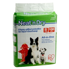 IRIS Neat n Dry Floor Protection and Training Pads Medium