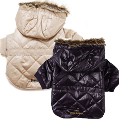 Juicy Couture Dog Winter Jacket with Faux Fur