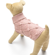Juicy Couture Lattice Bobbles Dog Sweater