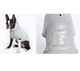 Juicy Couture Sequin Scottie Hooded Shirt