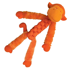 Kong Braidz Fuzzy Monkey Dog Toy
