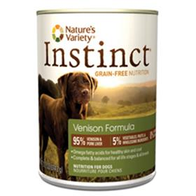Natures Variety Instinct Venison Formula Canned Dog Food