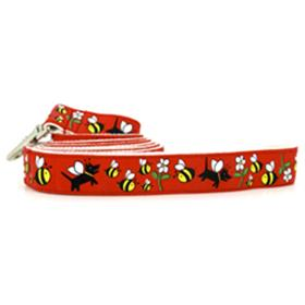 Wagging Green Honey Dog Bamboo Leashes