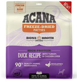 Acana Grain Free High Protein Fresh Raw Animal Ingredients Duck Recipe Freeze Dried Patties Dog Food