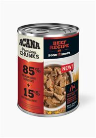 Acana Premium Chunks Beef Recipe in Bone Broth Wet Dog Food