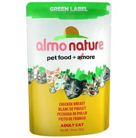 Almo Natural Chicken Breast Adult Cat Pouch Green Label