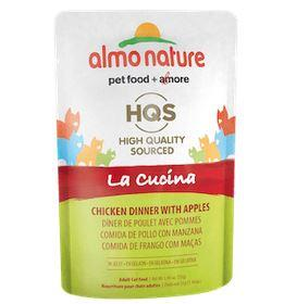 Almo Nature HQS La Cucina Chicken dinner with Apples Cat Pouch