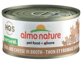 Almo Nature Natural Tuna Cheese in Broth Grain Free Canned Cat Food