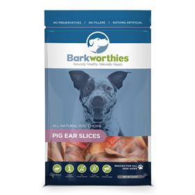 Barkworthies All Natural Pig Ear Slices