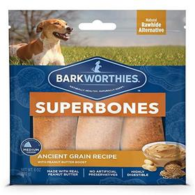 Barkworthies Ancient Grain Peanut Butter Superbone Dog Treats