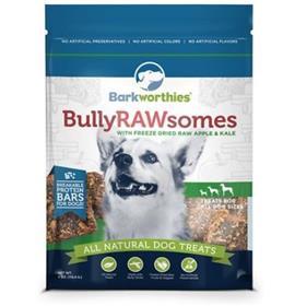 Barkworthies Bully Rawsomes with Freeze Dried Raw Apple and Kale Dog Treats