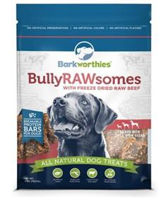 Barkworthies Bully Rawsomes with Freeze Dried Raw Beef Dog Treats