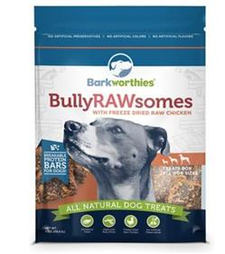 Barkworthies Bully Rawsomes with Freeze Dried Raw Chicken Dog Treats