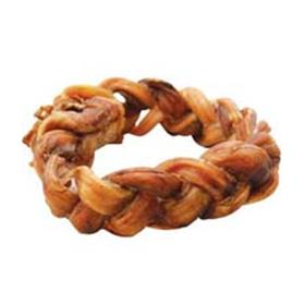 Bingo Buffalo Braided Bully Ring Dog Chew Treat