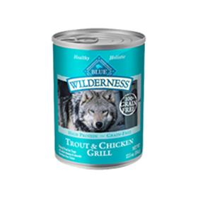 Blue Buffalo Wilderness Trout and Chicken Grill Cans