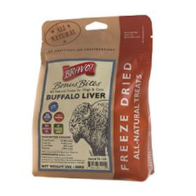 Bravo Bonus Bites Freeze Dried Buffalo Liver Dog Treats
