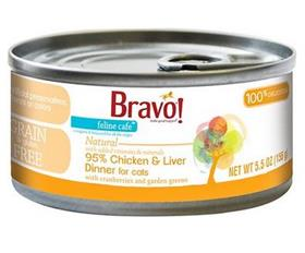 Bravo Feline Cafe Chicken and Liver Dinner Grain Free Canned Cat Food