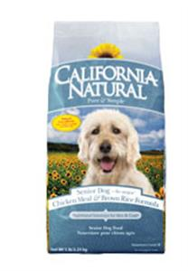 California Natural Chicken Meal and Brown Rice Formula Senior Dry Dog Food