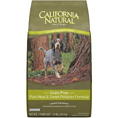 California Natural Grain Free Pork Meal and Sweet Potatoes Formula
