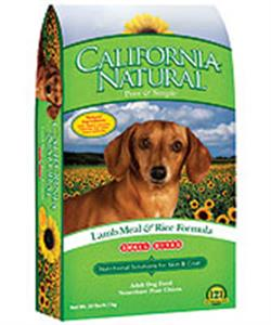 California Natural Lamb And Rice Dog Food Ingredients