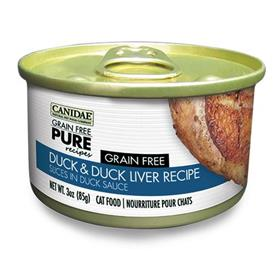 Canidae Grain Free PURE Recipes Adult Cat Wet Food Duck and Duck Liver Recipe