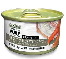Canidae Grain Free PURE Recipes Adult Cat Wet Food Trout and Lobster Recipe