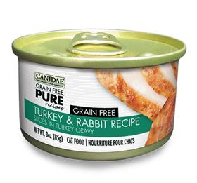 Canidae Grain Free PURE Recipes Adult Cat Wet Food Turkey Rabbit Recipe