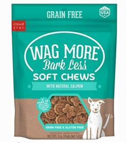 Cloud Star Wag More Bark Less Grain-Free Salmon Soft Chews Dog Treats