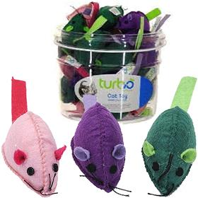 Coastal Turbo Felt Mice Cat Toy