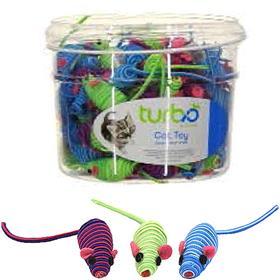 Coastal Turbo String Mice Cat Toy