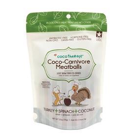 CocoTherapy Coco Carnivore Meatballs Turkey Spinach Coconut