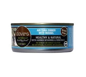 Daves Grain Free Canned Cat Food Ahi Tuna and Mussels