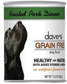 Daves Grain Free Canned Dog Food Roasted Pork Dinner Recipe