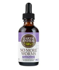 Earth Animal Organic Herbal Remedies No More Worms Tincture for Dogs