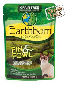 Earthborn Holistic Fin and Fowl Tuna Dinner with Chicken in Gravy for Cats