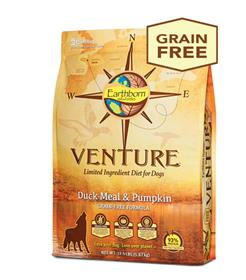 Earthborn Holistic Venture Duck Meal and Pumpkin formula