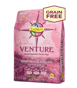 Earthborn Holistic Venture Rabbit Meal and Pumpkin Limited Ingredient Diet