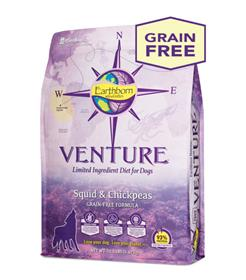 Earthborn Holistic Venture Squid and Chickpeas Limited Ingredient Diet