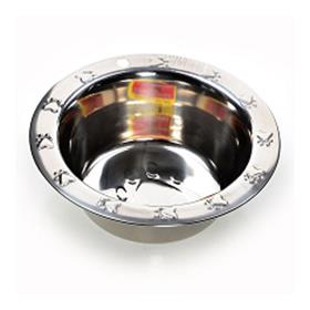 Ethical Pet Stainless Steel 3d Embossed Wide Rim Bowl