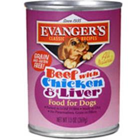 Evangers Classic Recipe Grain Free Beef with Chicken and Liver Canned