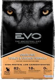 EVO Turkey and Chicken Formula Large Bites Dog Food