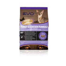 EVO Turkey and Chicken Formula Dry Cat Food