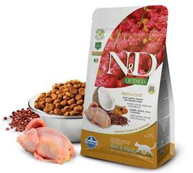 Farmina Grain Free LID Quinoa Skin and Coat Quail Dry Cat Food